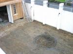ガーデンに巨大穴