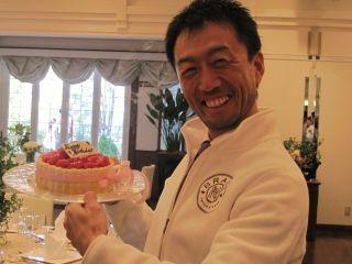 ケーキと社長